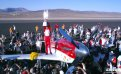 Pilot Steven Hinton celebrates being named the youngest-ever champion pilot at the 2009 Reno National Championship Air Races